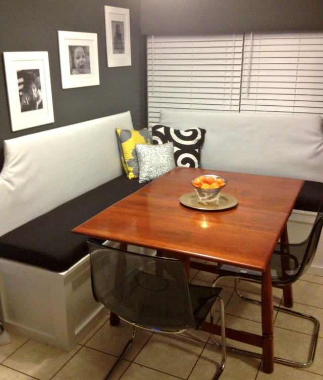 Finished Banquette
