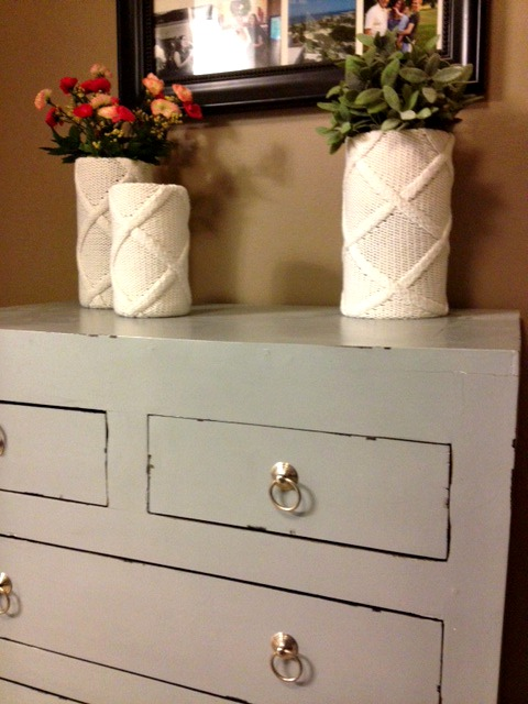 Sweater Vases + Homegoods Dresser