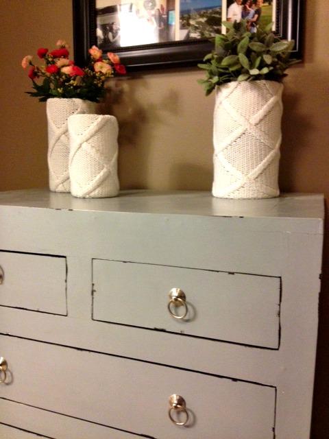 Sweater Vases + Homegoods Dresser