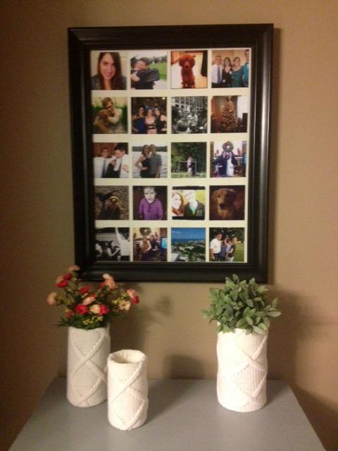 Vases with Instagram photos