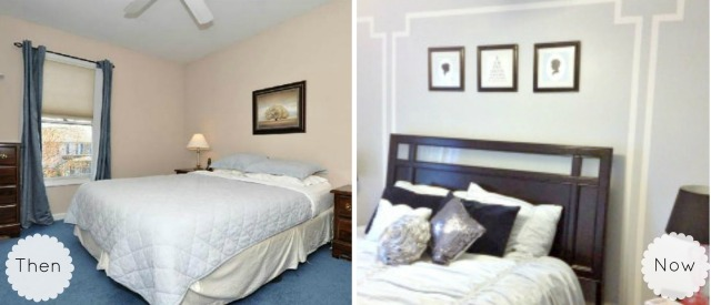 Guest bedroom collage