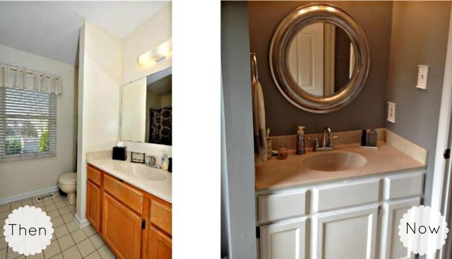Master bathroom collage